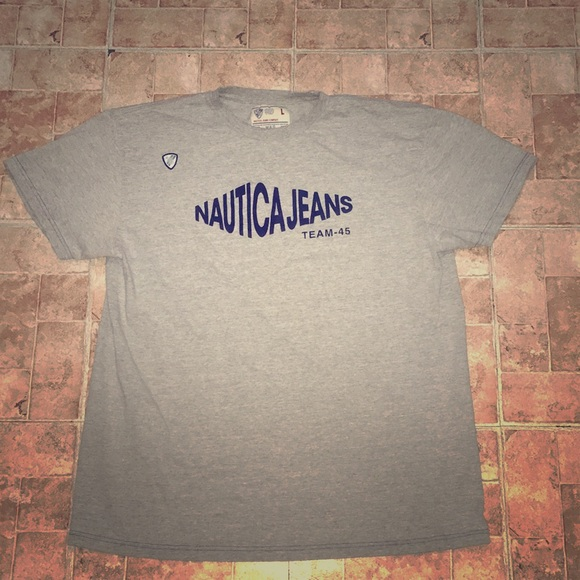 baff79752b88a Vintage Nautica Jeans Logo Tee With Badge
